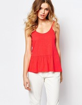 BA&SH Ruffle Tago Tank Top with Deep V Back
