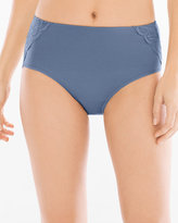 Soma Intimates Cotton/Modal with Lace Modern Brief