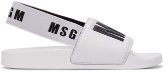 MSGM Logo Printed Slingback Slides