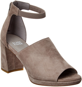 Eileen Fisher Matty Suede Ankle Strap Sandal