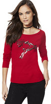 New York & Co. Sequin Reindeer Sweater