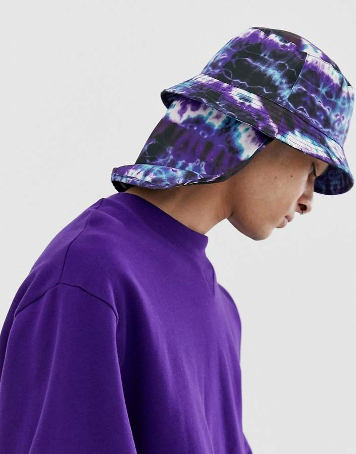 11d9ac2e7 Design DESIGN bucket hat in tie dye with neck cover