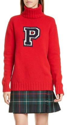 Polo Ralph Lauren Varsity Wool Turtleneck Sweater