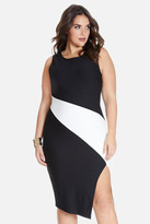 Fashion to Figure Claudia Asymmetric Color-Block Dress