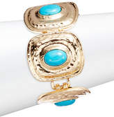 R.J. Graziano Goldtone Turquoise Stone Link Bracelet