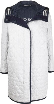 Ermanno Scervino Quilted Mid-Length Coat