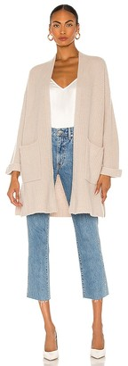 White + Warren Ribbed Robe Cardigan