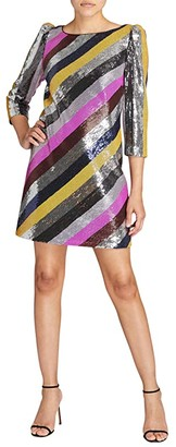 Milly Elaine Stripe Sequin Dress (Multi) Women's Dress