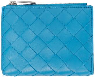 Bottega Veneta Blue Intrecciato Continental Wallet