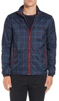 Original Penguin Men's Plaid Print Zip Jacket
