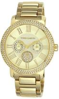 Vince Camuto Women's Champagne-Color Dial Multifunction Goldtone Bracelet Watch Embellished with Crystals from Swarovski