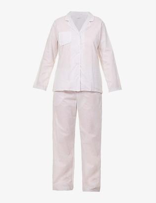 Derek Rose Ledbury geometric-print cotton pyjama set