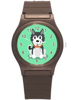 "Kidozooo Boys Girls Cute Siberian Husky 1 3/8"" Diameter Plastic Watch"