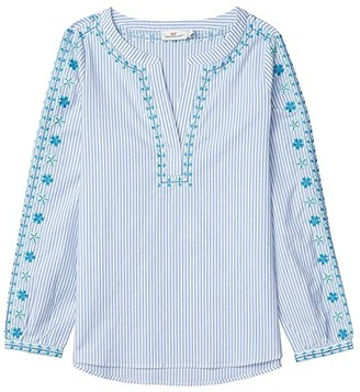 Vineyard Vines Pop Embroidered Savannah Top (Ocean Reef) Women's Clothing