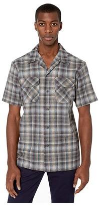 Pendleton Short Sleeve Board Shirt (Grey Multi Ombre) Men's Clothing