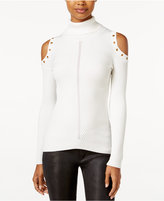 XOXO Juniors' Embellished Cold-Shoulder Sweater