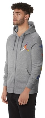 Jordan Rivals Full-Zip Hoodie Sweatshirt - Carbon Heather
