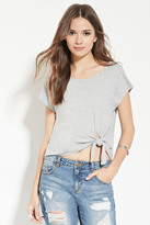 Forever 21 FOREVER 21+ Contemporary Knot-Front Tee