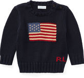 Ralph Lauren Boy Flag Cotton Sweater