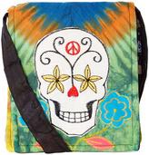 Blue & Orange Sugar Skull Crossbody Bag
