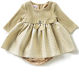 Bonnie Jean Bonnie Baby Baby Girls 3-24 Months Sweater-Knit/Dotted-Brocade Dress