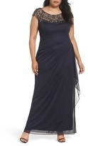 Xscape Evenings Plus Size Women's Embellished Jersey Gown