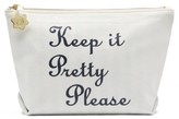 Draper James Keep It Pretty Please Canvas Pouch - Ivory