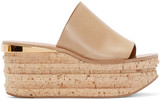 Chloé Beige Leather & Cork Sandals