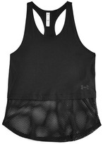 Under Armour Girls' Studio Mesh Tech Tank - Little Kid, Big Kid