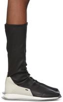 Rick Owens Black Oblique Stretch Sock Runner Sneakers