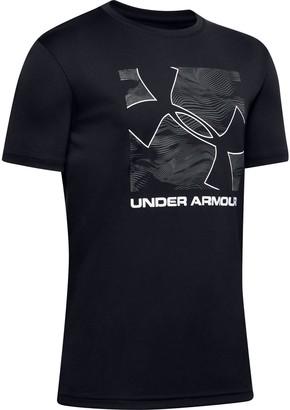 Under Armour Boys' UA Velocity Big Logo Short Sleeve