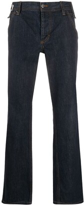 Dolce & Gabbana Pre Owned 2000s Stitch Detail Straight-Fit Jeans