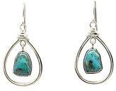 Barse Sterling Silver & Turquoise Orbital Teardrop Earrings