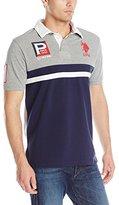 U.S. Polo Assn. Men's Cotton Pique Color Block Polo Shirt