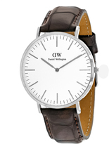 Daniel Wellington York 0211DW Men's Brown Leather and Stainless Steel Watch
