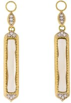 Jude Frances 18K Diamond & Citrine Delicate Long Stone Earring Charms