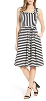 Anne Klein Women's Stripe Fit & Flare Dress
