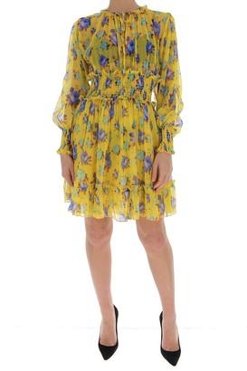 MSGM Floral Ruffled Mini Dress