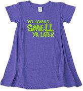 Urban Smalls Purple 'Yo Homes' Swing Dress - Toddler & Girls