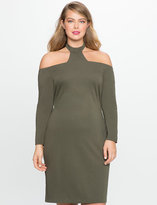 ELOQUII Plus Size High Neck Fitted Dress