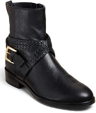 Jack Rogers Women's Casual boots BLACK - Black Leather Braided-Strap Eliza Boot - Women