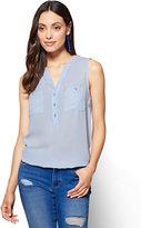 New York & Co. Soho Soft Shirt - Sleeveless Popover Blouse