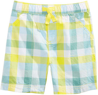 First Impressions Toddler Boys Plaid Cotton Shorts