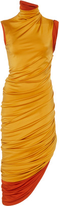 Monse Ruched Asymmetric Stretch-Jersey Dress