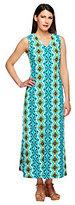 As Is Denim & Co. Petite Sleeveless V-neck Print Maxi Dress