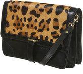 Topshop Leopard Leather Shoulder Bag