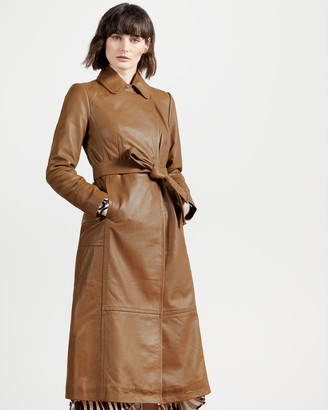 Ted Baker ENYER Leather wrap coat