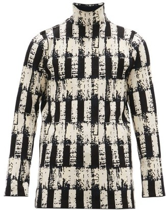 Namacheko Tsivot Abstract-jacquard Roll-neck Sweater - Mens - Black White