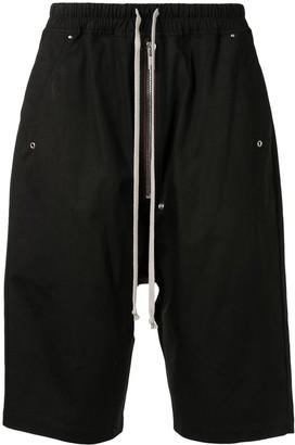 Rick Owens Dropped-Crotch Knee-Length Shorts