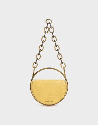 Charles & KeithCharles & Keith Croc-Effect Circle Clutch